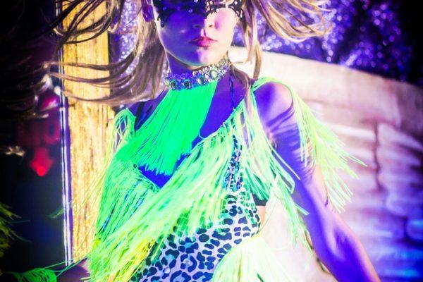 Bright Colors Go Go dancer New York City
