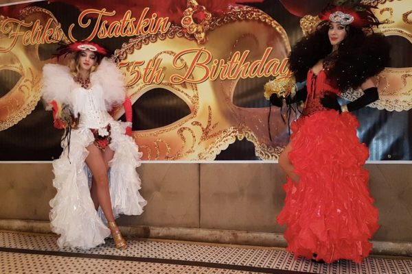 Costumed 1920s Dancers Masquerade Birthday Party Theme Private Party New York City