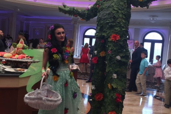 Fantasy forest Theme party Fairy Tail Princess Green Private Party Event Stilt Walker and Performer New York City