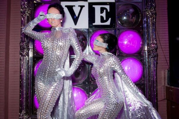LED SIiver Suit Special Performers Models Fantasy Party New York
