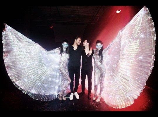 LED Winged Acrobats New York City