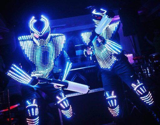 Lazer show LED Robots party event New York City