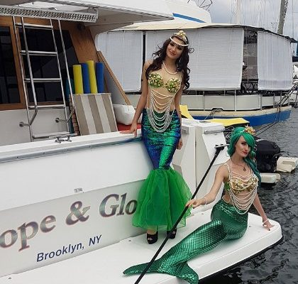 Mermaid Models Pool Party Boat Party Private event New York City