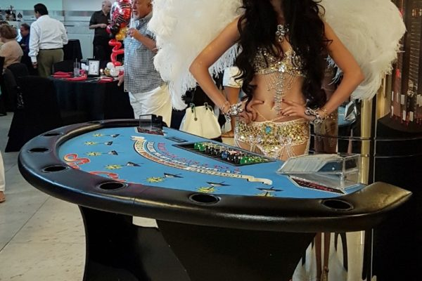 Private Corporate event party performer Casino Night Theme Show Girl new york city