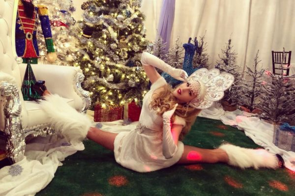 Santa Helper Model Contortionist Model Dancer Greeter Performer for Events and Parties New Year party New York City