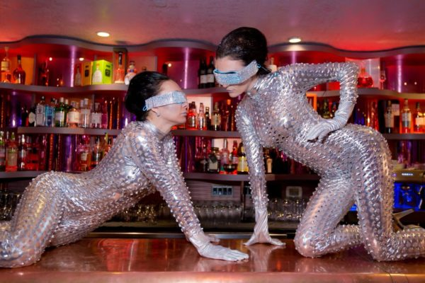 Silver Body Suit Performer Go Go Dancers New York City