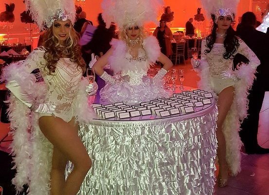 Special Event Strolling Table Girl and Model Dancers Birthday Party White Event New York