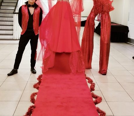Special Red Costumes Perofmers Private Party Themed Red carpet girl Events New Year party Greeters New York City