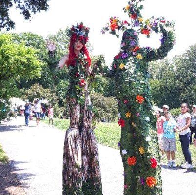 Tree costumes Stilt Walkers Outdoor Event New York City