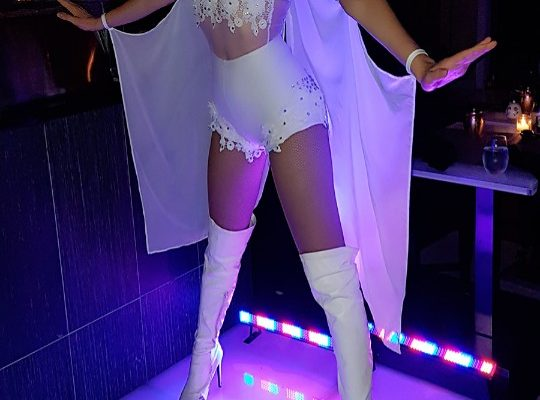 White 2 Piece Go Go Dancer