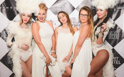 White Event Grand Openning Anniversary Party All White NYC Themed White Party Performers