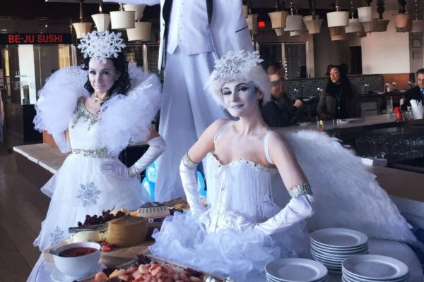 Winter Wonderland Themed Private Party Snow Queen White Angel Event Performers New York City